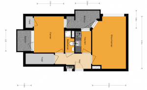 2 kamer 2 balkons